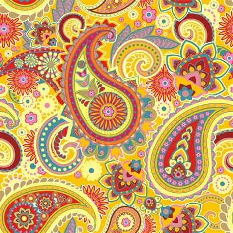 paisley seamless pattern vector floral paisley pattern seamless vector free vector in