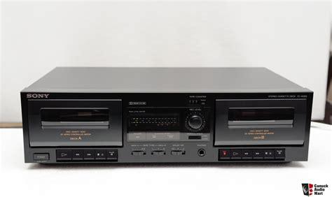 cassette deck dual cassette deck sony tc w365 photo 205201 canuck