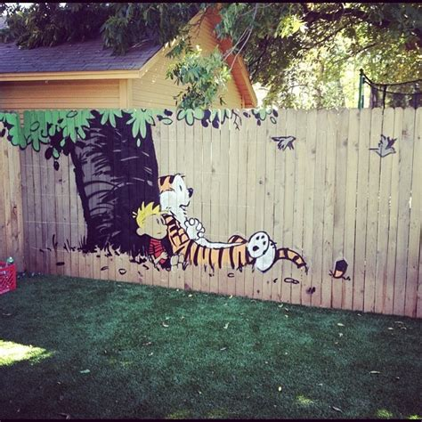 Backyard Wall Painting Ideas 25 Ideas For Decorating Your Garden Fence