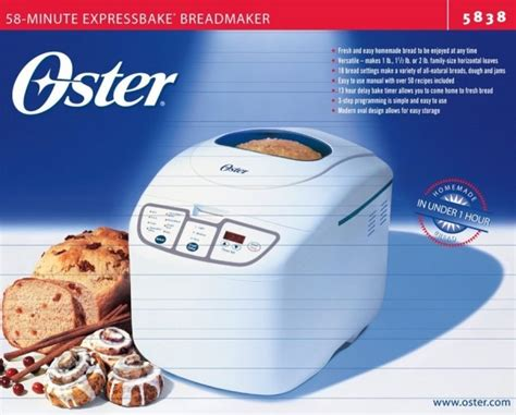 design factory bread maker manual oster expressbake breadmaker review oster 5838 58 minute