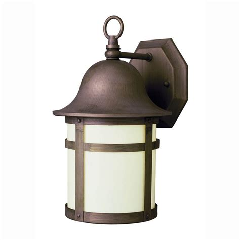 Bel Air Outdoor Lighting Bel Air Lighting Energy Saving 1 Light Outdoor Weathered Bronze Patio Wall Lantern With Frosted