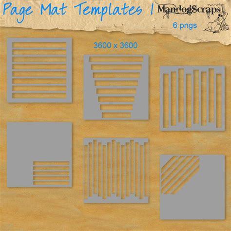 1 temp mat page mat templates 1 by mandog scraps page mat templates 1