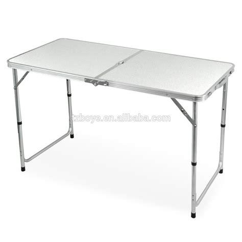 Meja Aluminium meja lipat aluminium logam meja lipat meja luar lipat