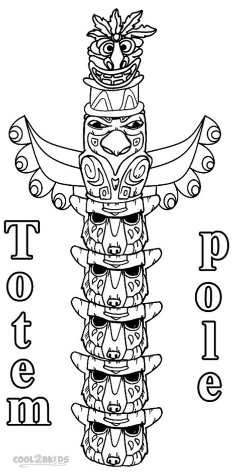 Totem Pole Coloring Pages Cat Totem Colouring Pages by Totem Pole Coloring Pages