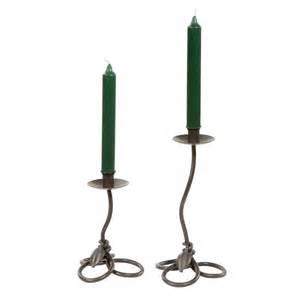 Iron Candle Holders Wrought Iron Leaf Collection Candle Holders By