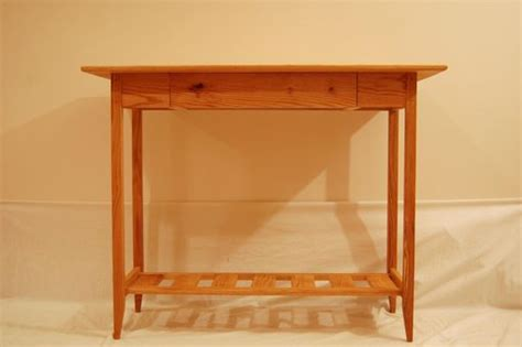 Shaker Style Sofa Table by Buy A Custom Shaker Oak Sofa Table Table With Drawer