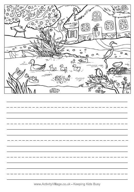 activity village printable writing paper 1000 images about spring activities for children on