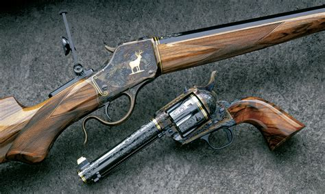 Handmade Rifles - firearms engravers gunmakers exhibition features nearly