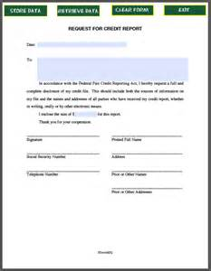 Report Request Template Request Letter For Credit Report Free Fillable Pdf Forms