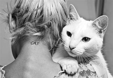 tattoo cat model anja konstantinova takes fashion s cat obsession to new