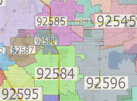 zip code map riverside county menifee ca zip code map menifee 24 7