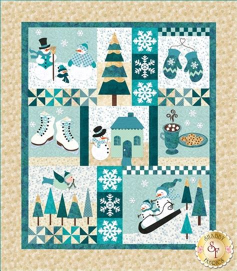 blessings of winter fresh snow sample quilt traditional applique