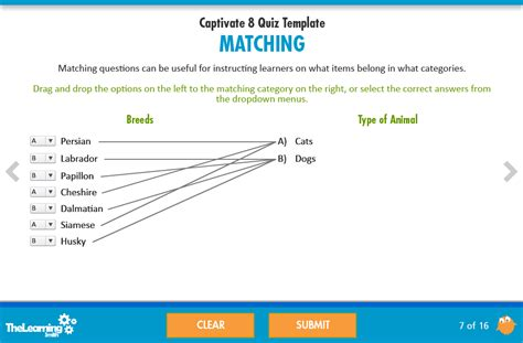 make a test template the learning smith captivate 8 quiz template