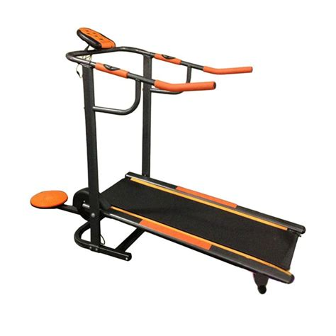 Alat Fitness Treadmill Manual 2 Fungsi Monitor Elektrik Orange jual fitness treadmill manual 2 fungsi tl 002 tl002 alat fitness harga