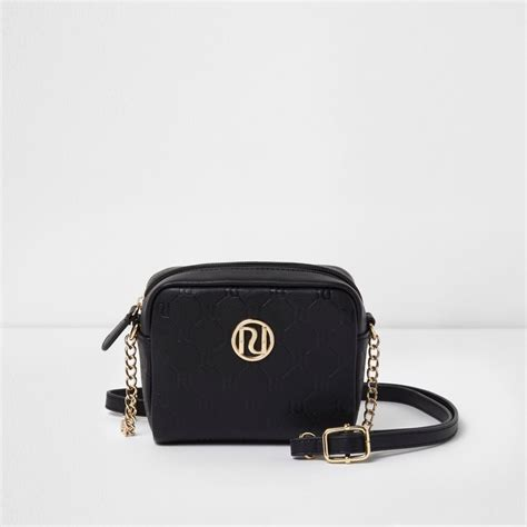 girls black ri monogram cross body chain bag bags bags