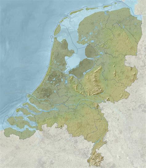physical map of netherlands maps of detailed map of in