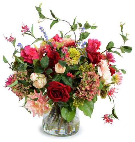 Floral Interiors Artificial Flowers And Trees by Mixed Flower Bouquet Arrangement