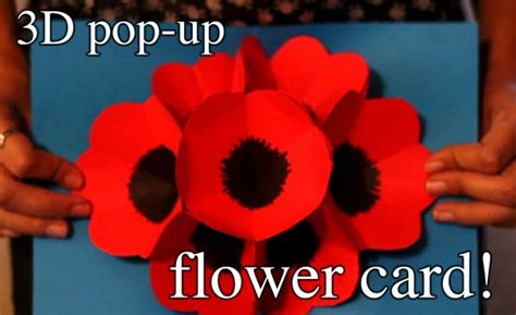 How To Make Pop Up Flowers Card In Paper - how to make 3d pop up flower greeting cards how to