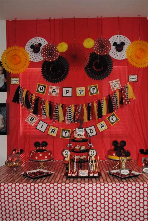 mickey and minnie mouse birthday ideas photo 1 of