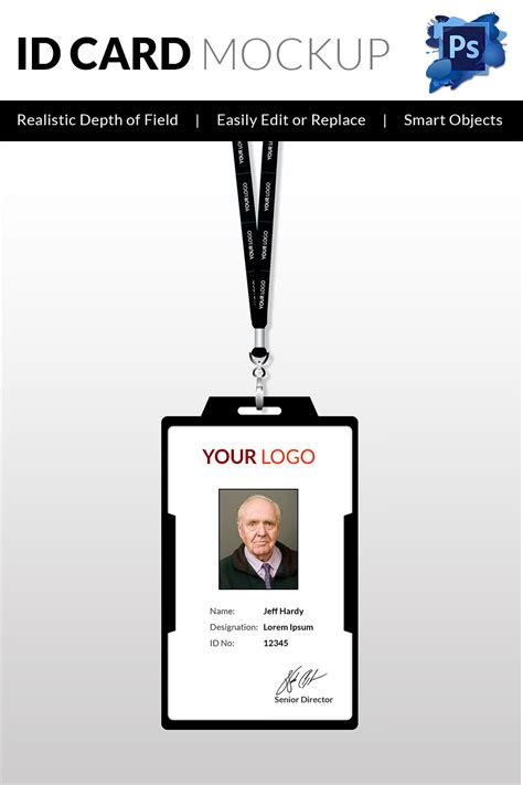 employee id card photoshop template 18 id card templates free psd documents free