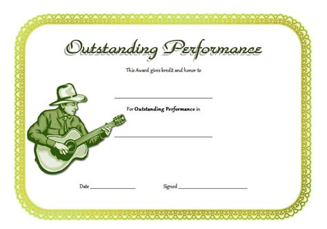 outstanding performance certificate template outstanding performance certificate template best