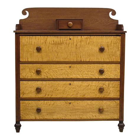 birdseye maple chest of drawers antique american country chest of drawers cherry with