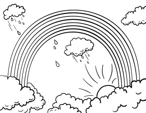 rainbow coloring page pdf printable rainbow coloring page free pdf download at http