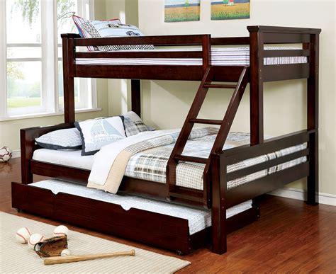 twin xl over queen bunk bed mia xl twin over queen bunk bed in dark walnut
