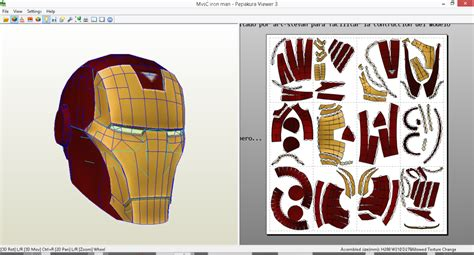 Iron Mask Papercraft - marvel vs capcom 3 iron helmet papercraft pdo by