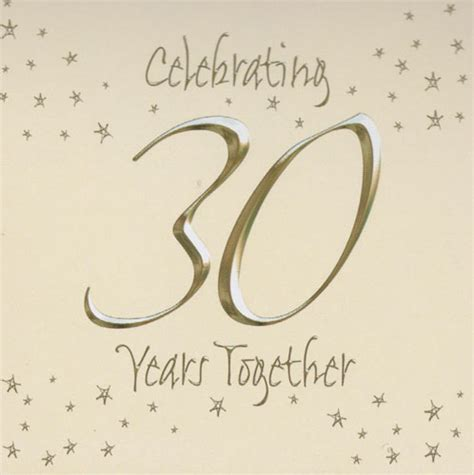 wedding anniversary cards 30 years 30th wedding invitations in packs of 6 wizard