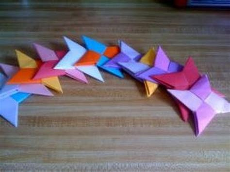 How To Make Things Out Of Construction Paper - paper crafts how to make a paper shuriken throwing