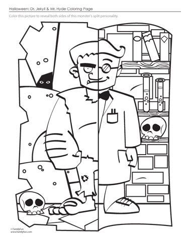 printable version of dr jekyll and mr hyde dr jekyll and mr hyde coloring page for halloween