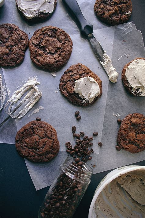vegetarian new year cookies spicy chocolate cookies with cappuccino frosting