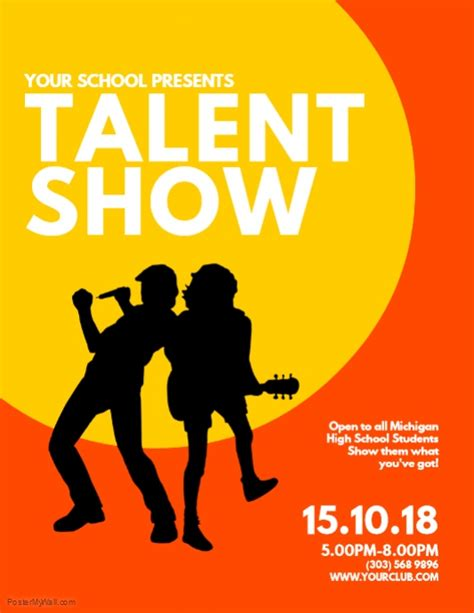 copy of talent show flyer template postermywall