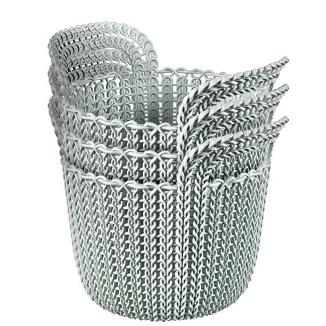 Curver Knit by Curver 3 0 Qt Knit X Small Storage Basket Set In