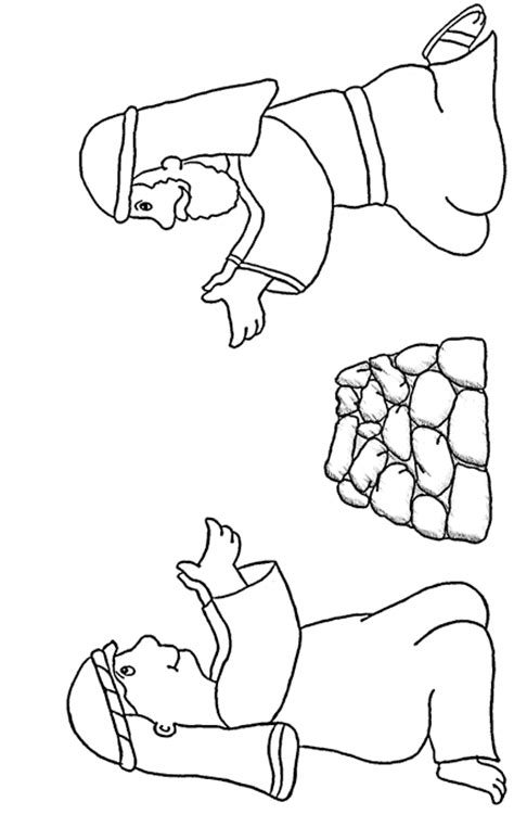 Cain And Abel Cain And Abel Coloring Page
