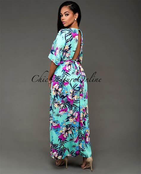 16 So Floral Turquoise Rompers chic couture ayala turquoise multi color floral romper maxi dress http www