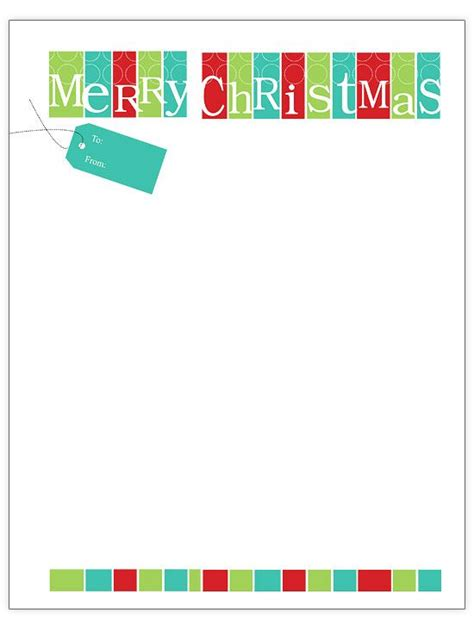 Free Christmas Letter Templates Download Fun For Christmas Halloween Free Merry Letter Template