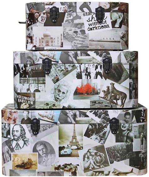 photo collage set photo collage set of 3 storage boxes home accessories