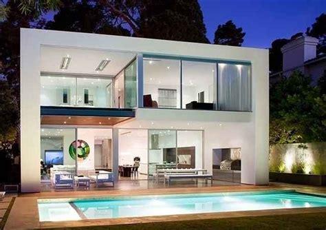 desain rumah yang ada kolam renangnya koleksi foto desain rumah minimalis 2 lantai tak depan