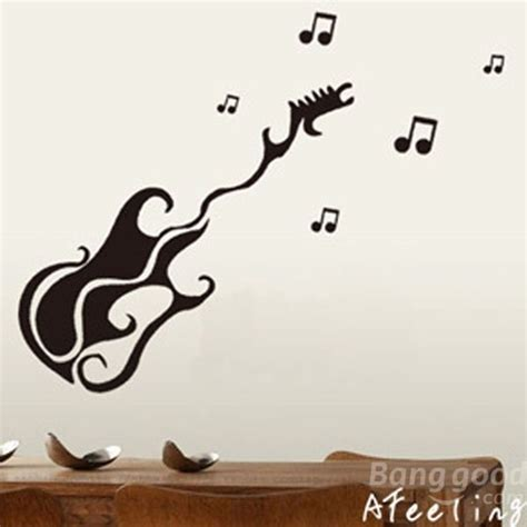 Guitar Wall Stickers wall art designs guitar wall art removable guitar wall