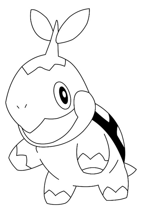 pokemon turtwig coloring pages az coloring pages
