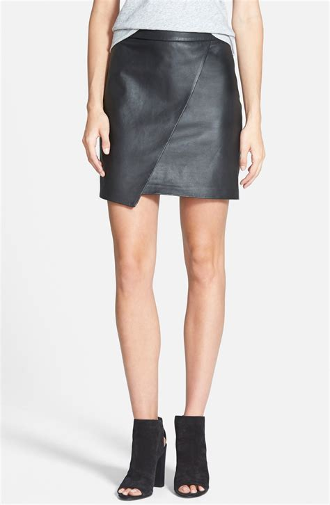 madewell leather wrap front skirt nordstrom