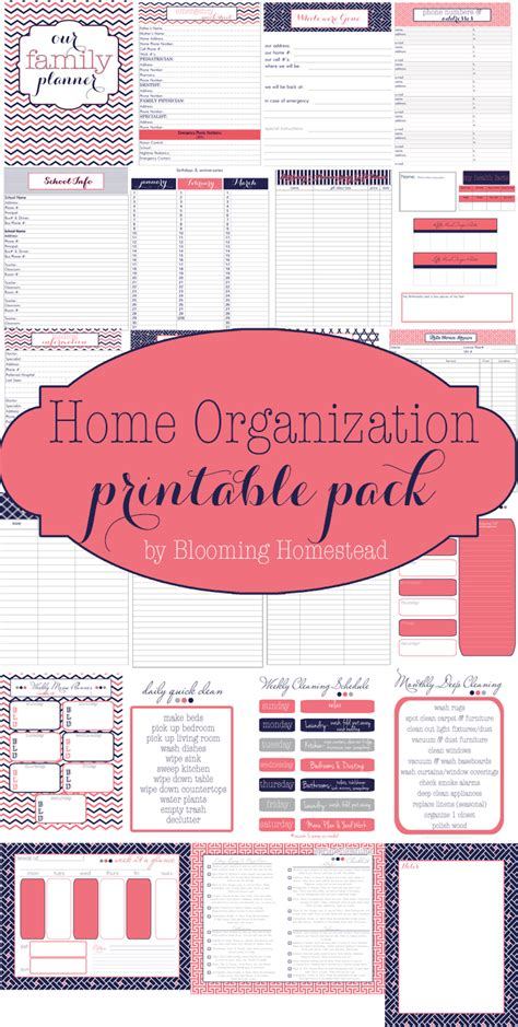 home organization plan home organization printables page 3 of 4 blooming