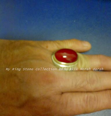 Akik Darah my money collection batu akik merah darah my favorite ring