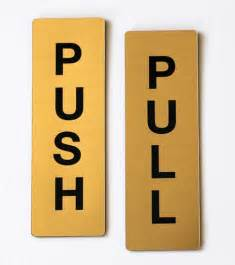 Push Pull Sign For Glass Door Push Pull Sign