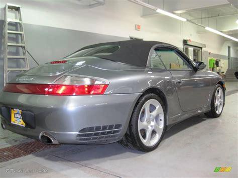 grey porsche 911 convertible 2004 seal grey metallic porsche 911 carrera 4s cabriolet