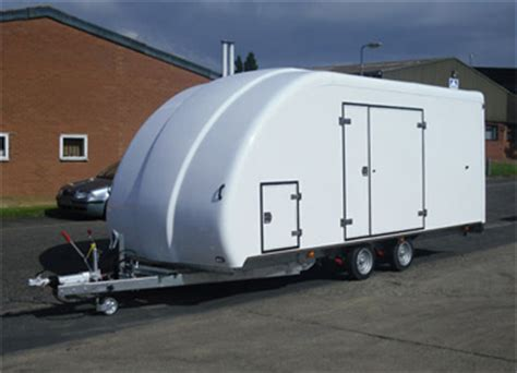 rugged cing trailers enclosed covered car trailers transport vehicles safely woodford trailers covered car