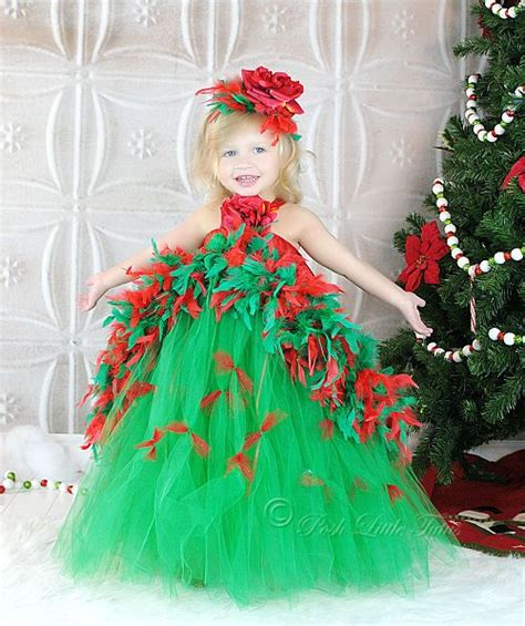 christmas tree boutique feather couture girls tutu dress