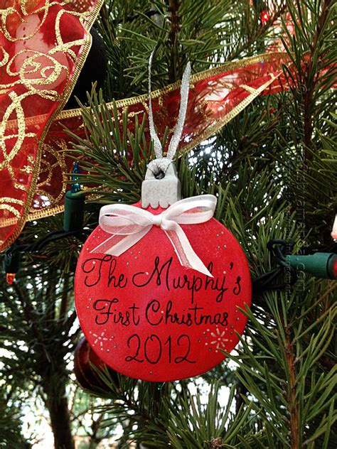 diy christmas ornaments for the newlywed tree newlywed